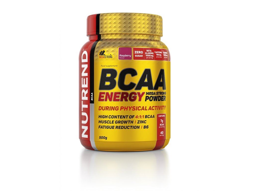 bcaa energy mega strong powder 500g raspberry