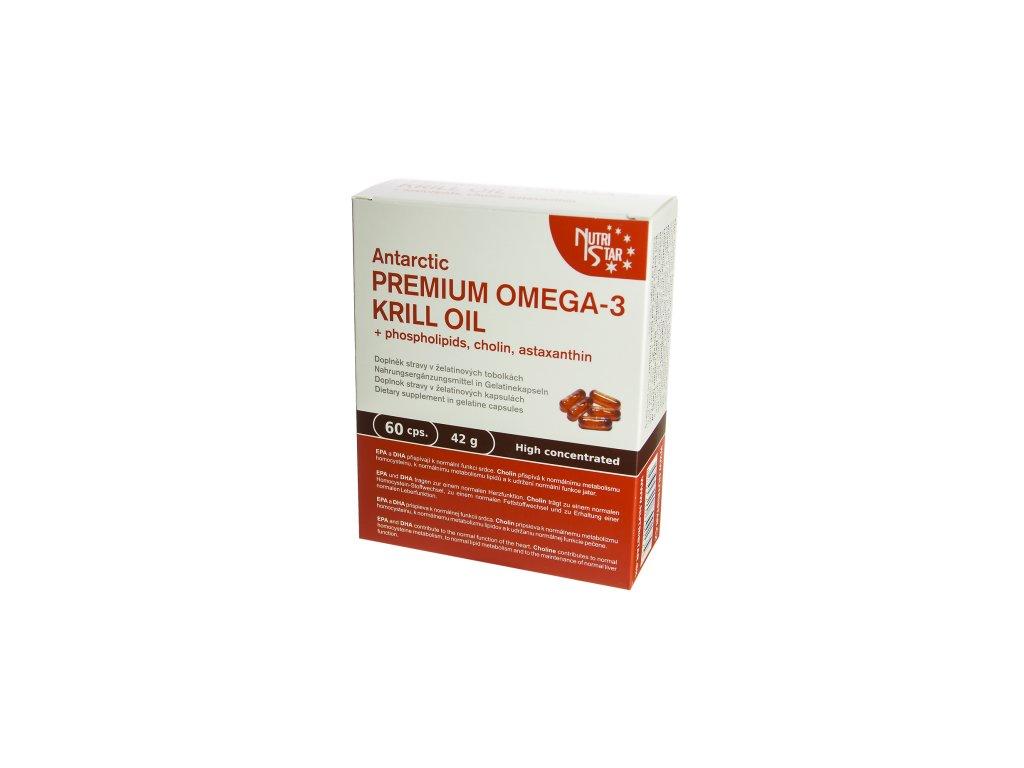 Nutristar Antarctic Premium Omega 3 Krill oil 60 cps.  + Dárek k objednávce zdarma