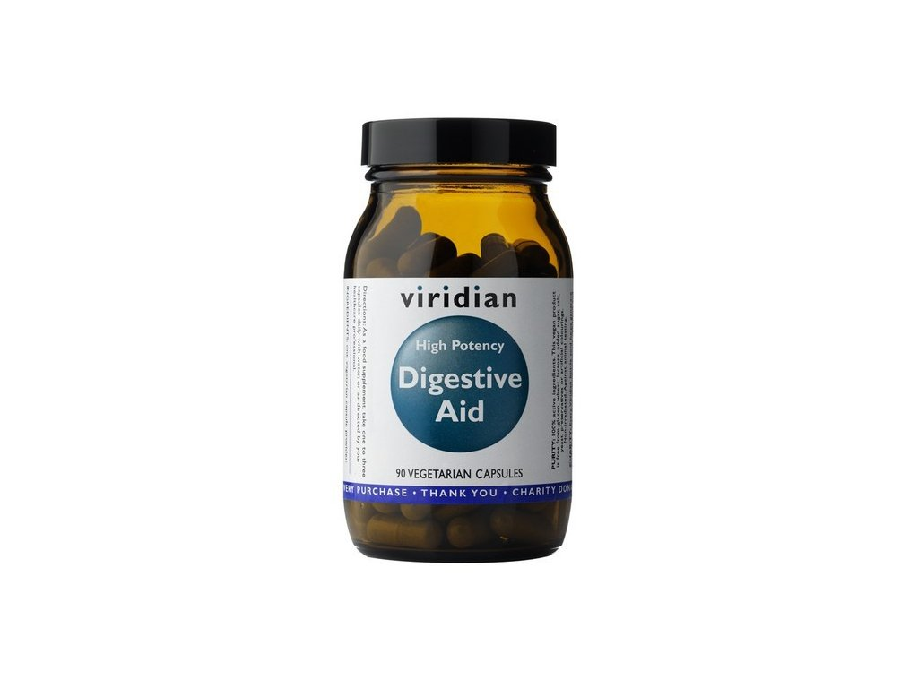 Viridian High Potency Digestive Aid 90 kapslí  + ZDARMA N.O Assassins Pump 10g