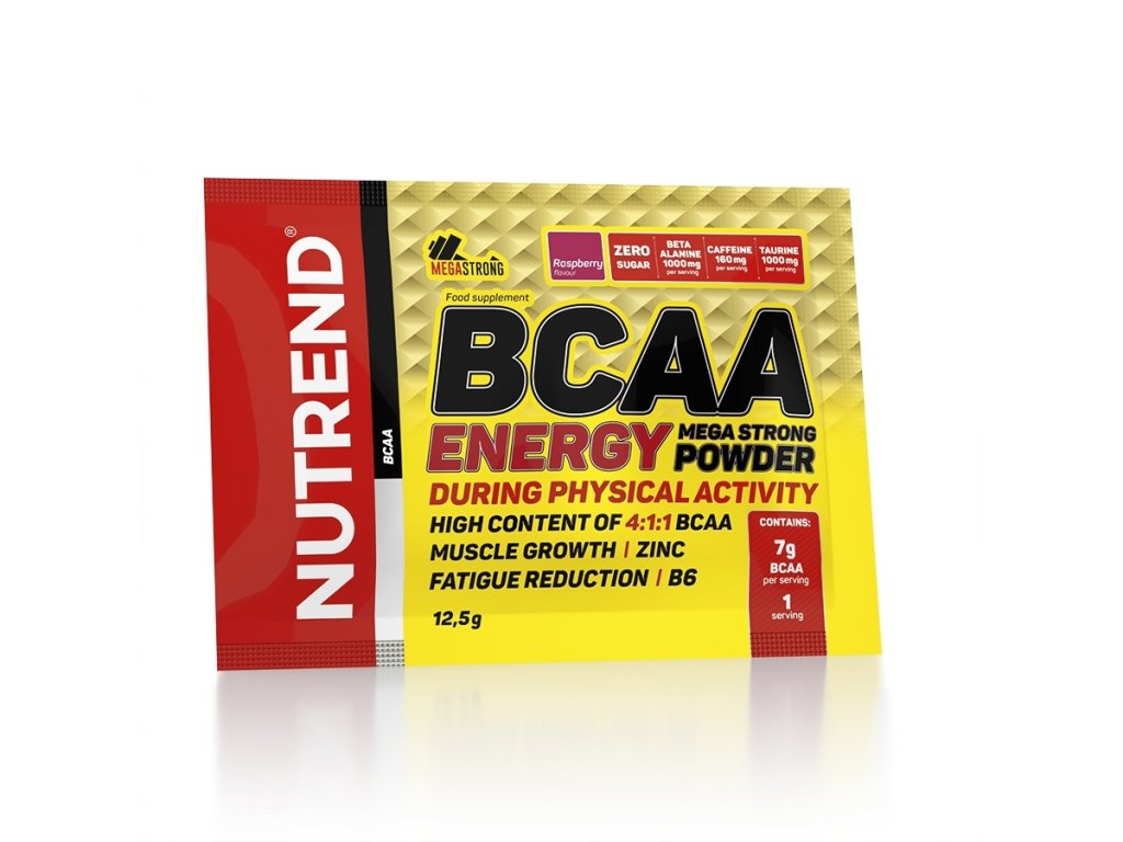 bcaa energy mega strong powder 12g raspberry