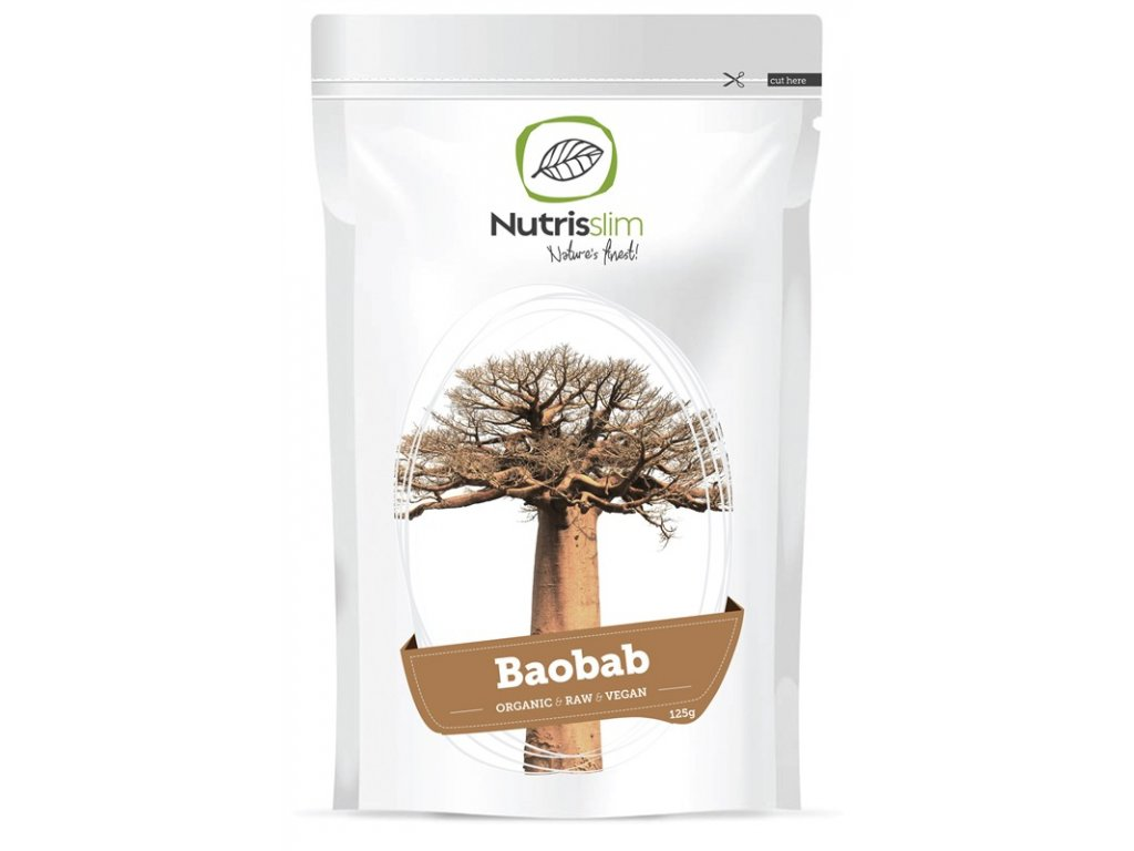 Baobab Fruit Powder 125g Bio  + ZDARMA tester produktu (protein, nakopávač, tyčinka)