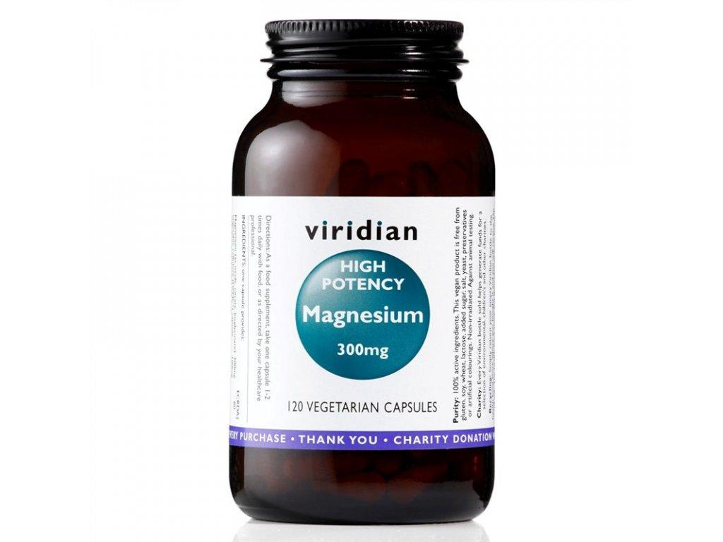 High potency Magnesium 300mg 120kapslí  + ZDARMA tester produktu (protein, nakopávač, tyčinka)