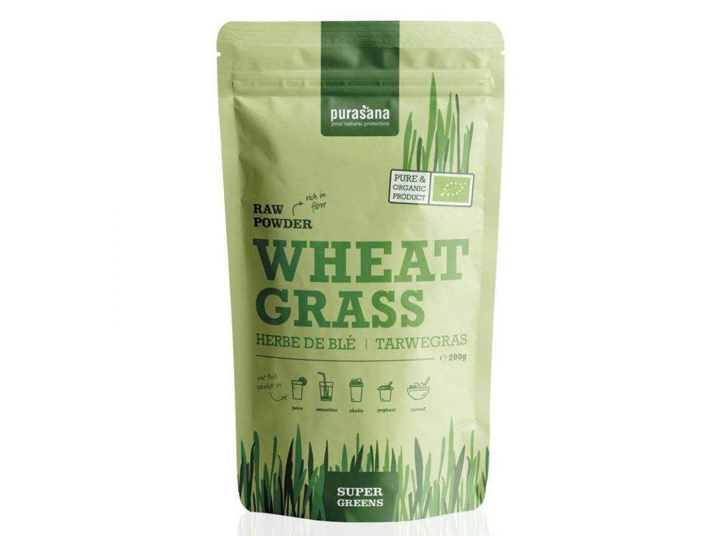Wheat Grass Raw Powder (Evropský původ) BIO 200g