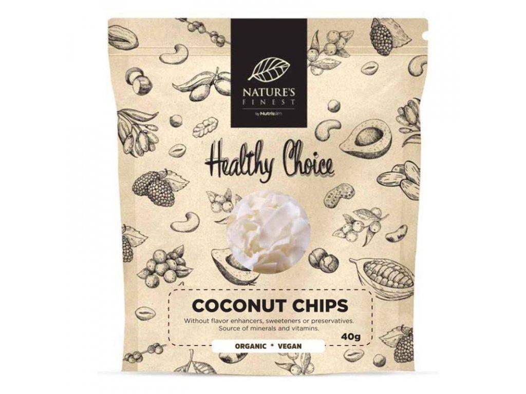 Coconut Chips Bio 40g  + ZDARMA tester produktu (protein, nakopávač, tyčinka)