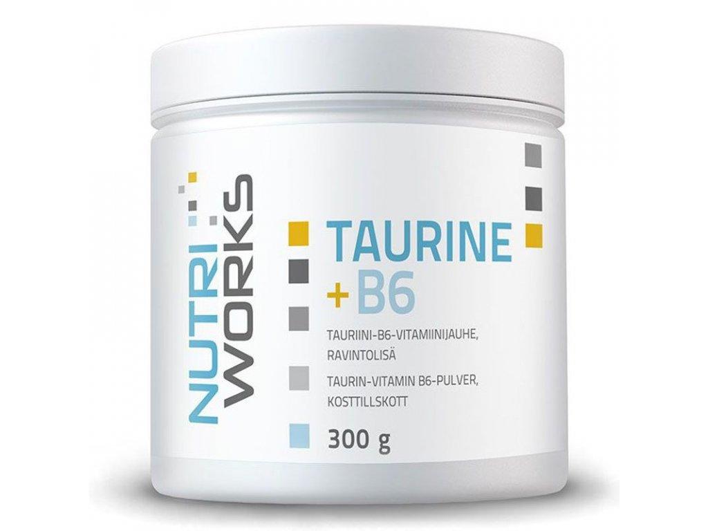 NutriWorks Taurine + B6 300g  + ZDARMA tester produktu (protein, nakopávač, tyčinka)