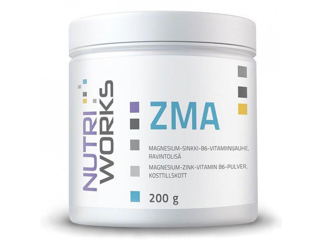 NutriWorks ZMA 200g  + ZDARMA tester produktu (protein, nakopávač, tyčinka)