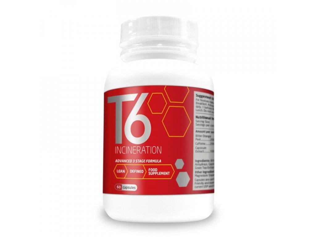 T6 Incineration 60 kapslí  + ZDARMA tester produktu (protein, nakopávač, tyčinka)