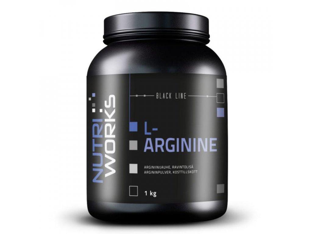 NutriWorks L-Arginine 1000g  + ZDARMA tester produktu (protein, nakopávač, tyčinka)