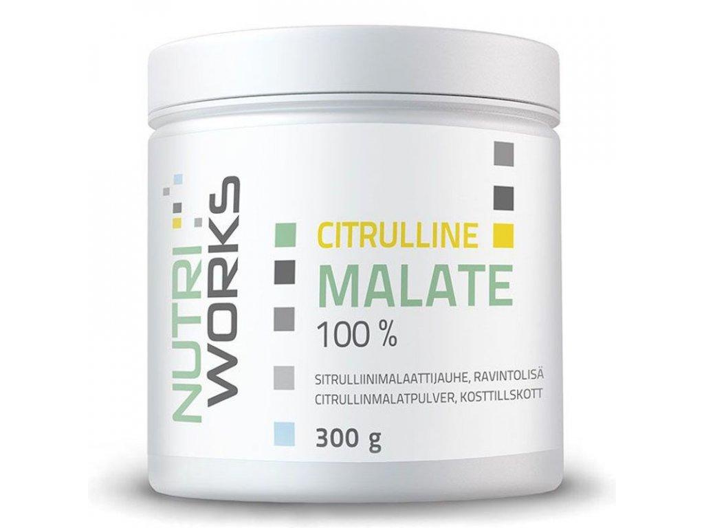 NutriWorks Citruline Malate 300g  + ZDARMA tester produktu (protein, nakopávač, tyčinka)