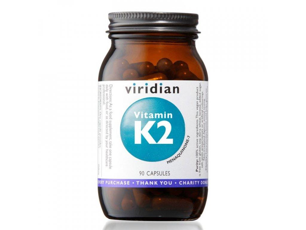 Vitamin K2 90 kapslí  + ZDARMA tester produktu (protein, nakopávač, tyčinka)