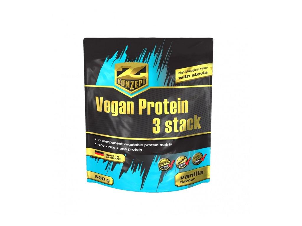 Z-KONZEPT NUTRITION Vegan Protein Stack 3 Stack 500 g