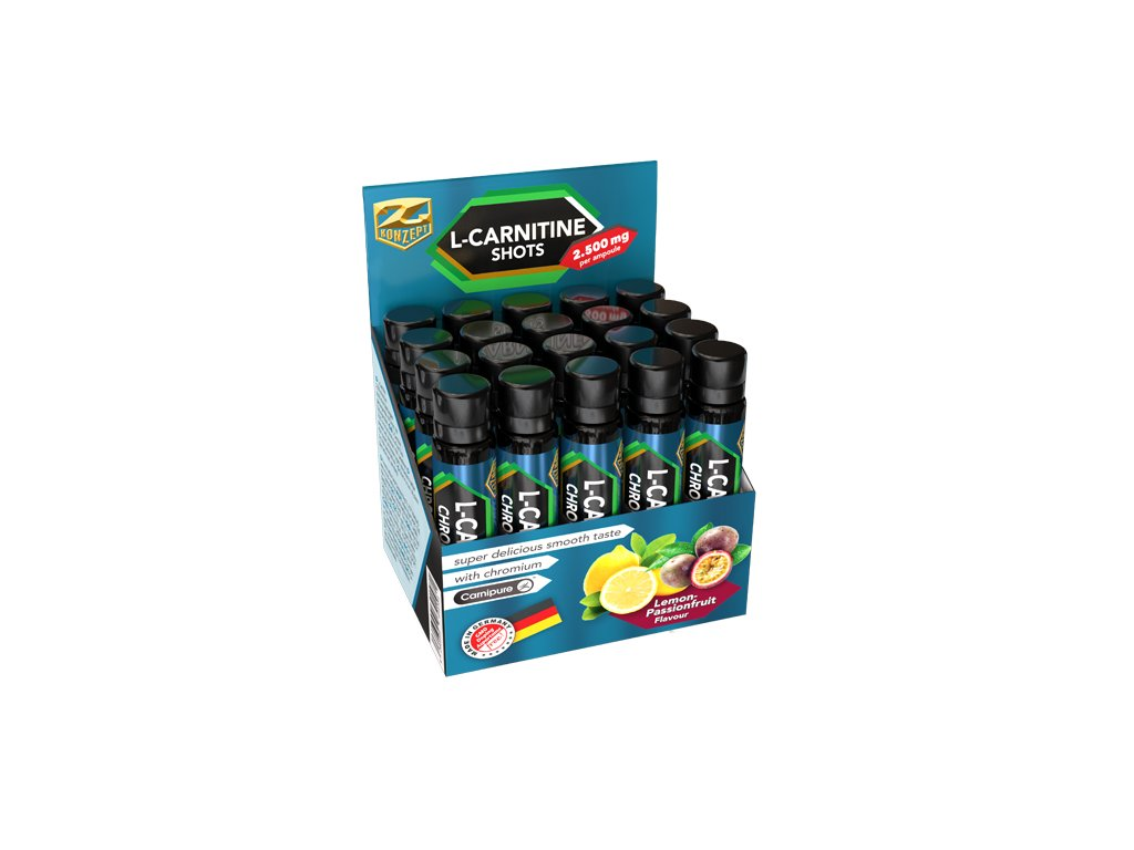 Z-KONZEPT NUTRITION L-Carnitine 2500 Chromium Shots 20 ampulí