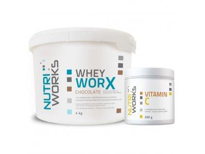 Iso Worx New 3kg choco vitaminC zdarma