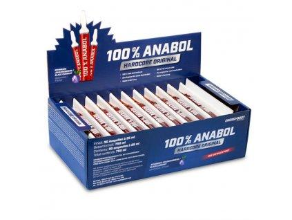 100% Anabol 30 ampulí  + ZDARMA tester produktu (protein, nakopávač, tyčinka)