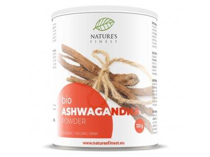 Ashwagandha Powder 125g Bio  + ZDARMA tester produktu (protein, nakopávač, tyčinka)