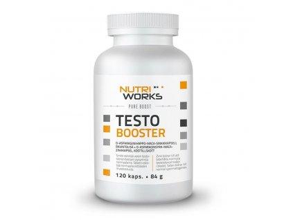 NutriWorks Testo Booster 120 kapslí  + ZDARMA tester produktu (protein, nakopávač, tyčinka)