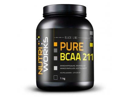 NutriWorks BCAA 2:1:1 1kg  + ZDARMA tester produktu (protein, nakopávač, tyčinka)