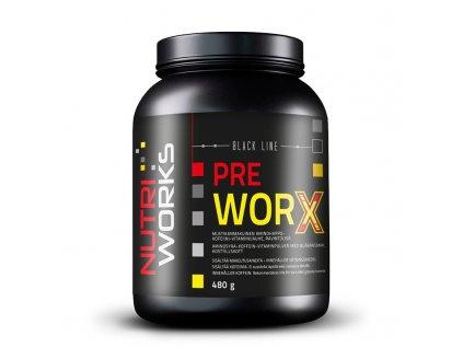 NutriWorks Pre Worx 480g  + ZDARMA tester produktu (protein, nakopávač, tyčinka)