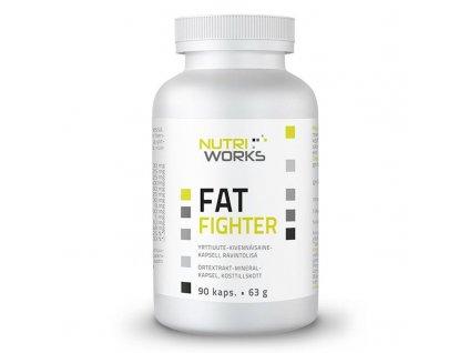 NutriWorks Fat Fighter 90 kapslí  + ZDARMA tester produktu (protein, nakopávač, tyčinka)