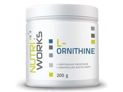 NutriWorks L-Ornithine 200g  + ZDARMA tester produktu (protein, nakopávač, tyčinka)