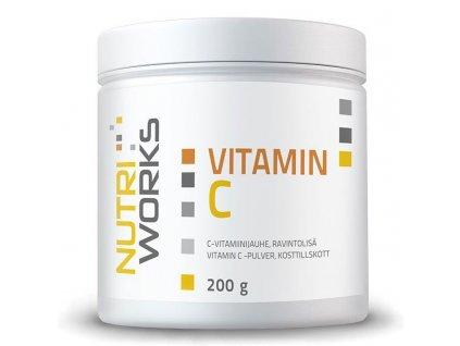 NutriWorks Vitamin C 200g  + ZDARMA tester produktu (protein, nakopávač, tyčinka)