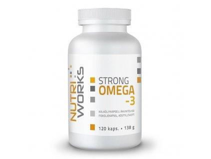 NutriWorks Strong Omega 3 120 kapslí  + ZDARMA tester produktu (protein, nakopávač, tyčinka)