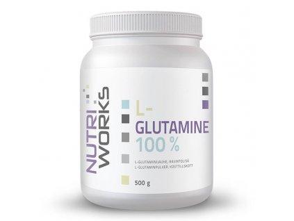 NutriWorks L-Glutamine 500g  + ZDARMA tester produktu (protein, nakopávač, tyčinka)