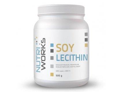 NutriWorks Soy Lecithin 500g  + ZDARMA tester produktu (protein, nakopávač, tyčinka)