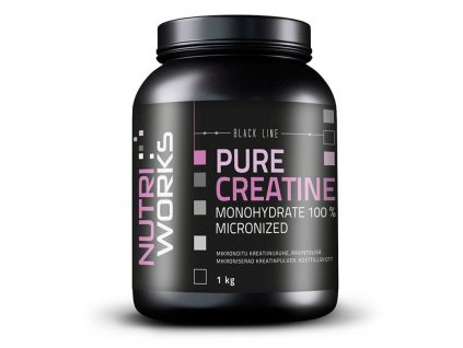 NutriWorks Pure Creatine Monohydrate 1000g  + ZDARMA tester produktu (protein, nakopávač, tyčinka)