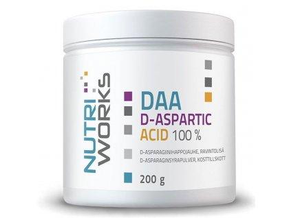 NutriWorks DAA D-Aspartic Acid 200g  + ZDARMA tester produktu (protein, nakopávač, tyčinka)
