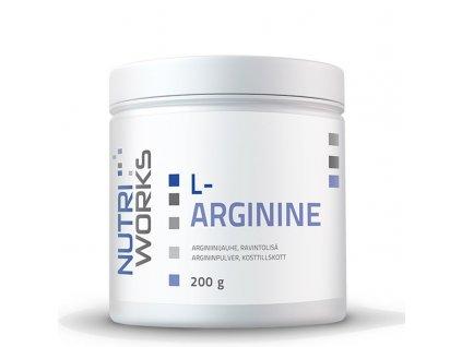 NutriWorks L-Arginine 200g  + ZDARMA tester produktu (protein, nakopávač, tyčinka)