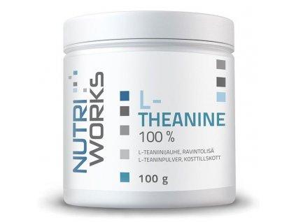NutriWorks L-Theanine 100g  + ZDARMA tester produktu (protein, nakopávač, tyčinka)