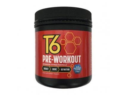 T6 PRE-WORKOUT 215g  + ZDARMA tester produktu (protein, nakopávač, tyčinka)