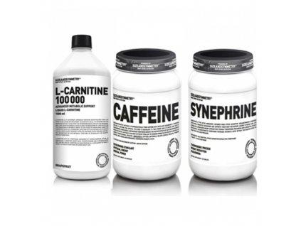 SIZEANDSYMMETRY L-carnitine 100.000 1000ml + Synefrin 100 tbl + Caffeine 60 kaps  + Dárek k objednávce zdarma