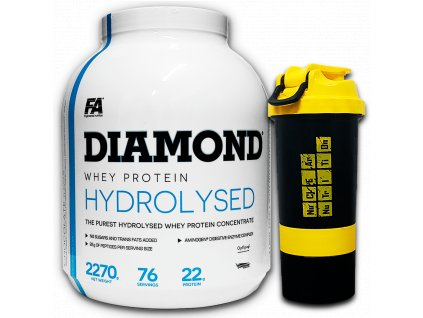 Fitness Authority Diamond Hydrolysed Whey Protein 2270 g+ Multi Active 60tbl  + Cashew Butter 350g ZDARMA