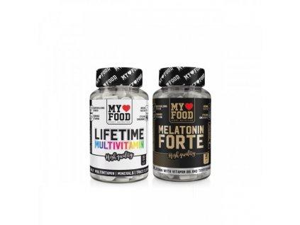 MYF Life Time 60 tablet + Melatonin Forte 90 kapslí