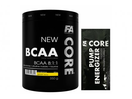 Fitness Authority BCAA CORE 8:1:1 350 g + sample pump energizer