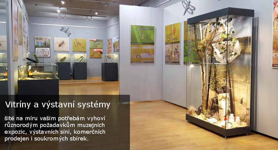 Vitríny a výstavní systémy pro muzea, komerční prodejny a výstavy