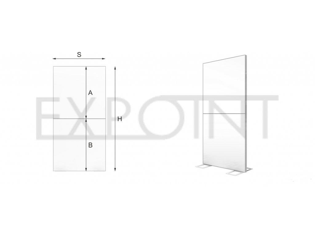 OMCLB Výstavní stěna Cube Line dělená do interiéru