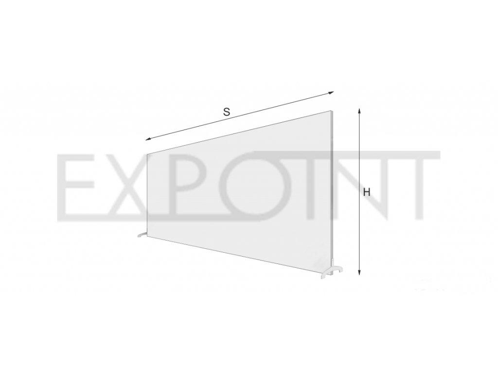 OMCLTK Výstavní stěna EFFECT s textilií do interiéru, jednostranná nebo oboustranná