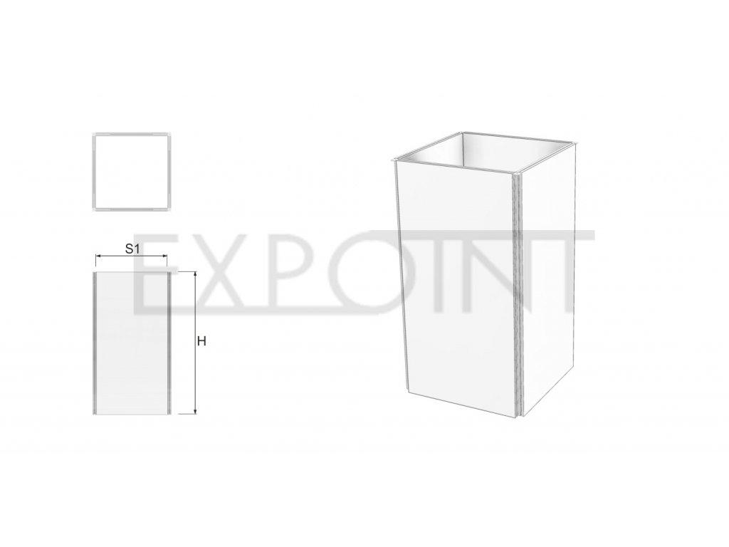 OMCLK2I Výstavní stěna Cube Line čtyřstranná do interiéru