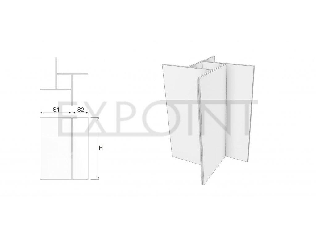 OMCLK1E Výstavní stěna Cube Line vícestranná do exteriéru