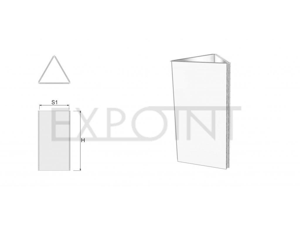 OMCLK3E Výstavní stěna EFFECT třístranná do exteriéru