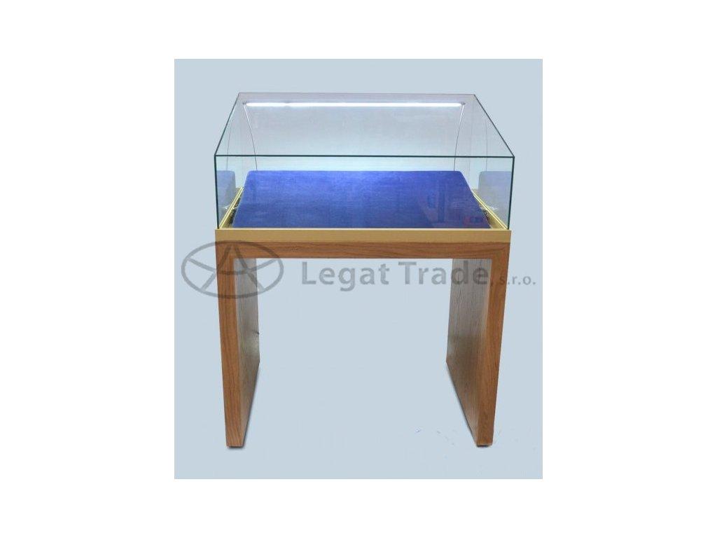 Výstavní stolová vitrína v provedení dýhaI