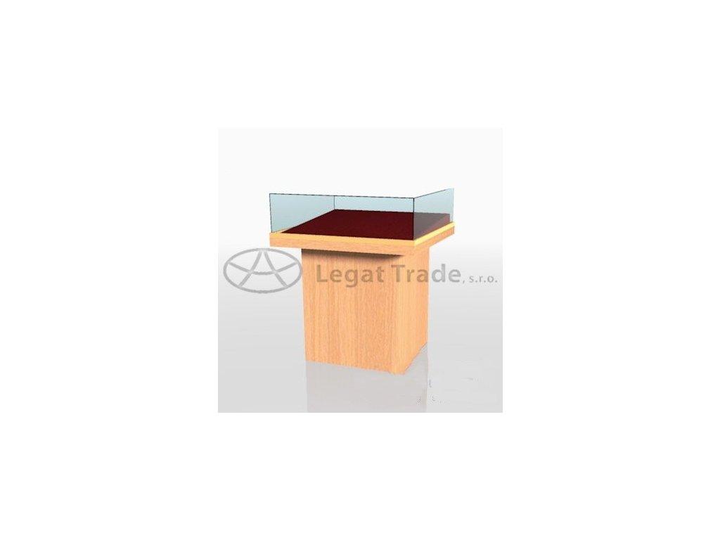 Výstavní stolová vitrína v provedení dýha II