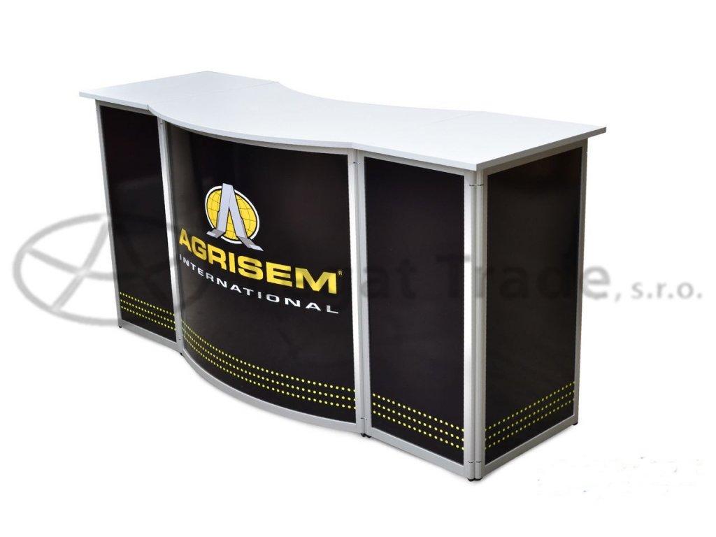 LALOC Prezentační a reklamní promo stolek 190 x 60 x 90 cm