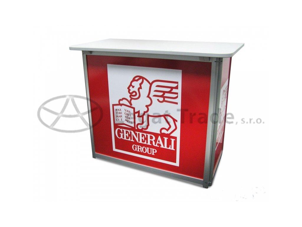 LASQUE Prezentační a reklamní promo stolek 90 x 45 x 90 cm