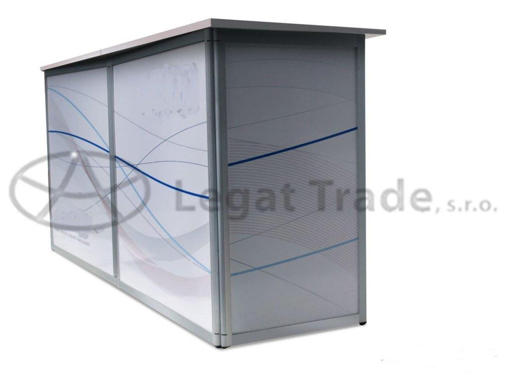 LASDO Prezentační a reklamní promo stolek 180 x 45 x 90 cm