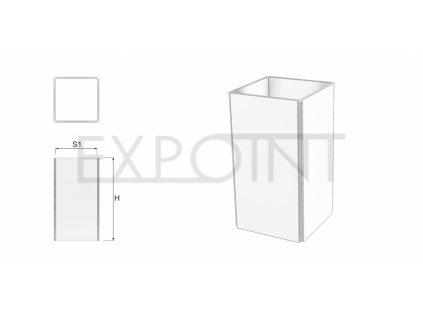 OMCLK2E Výstavní stěna Cube Line čtyřstranná do exteriéru