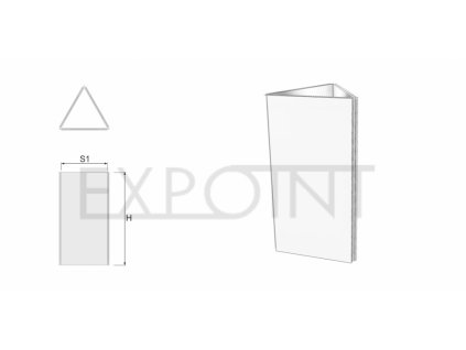 OMCLK3E Výstavní stěna Cube Line třístranná do exteriéru
